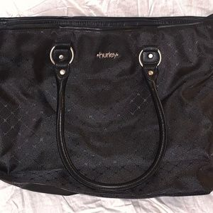 Black Hurley Tote Bag
